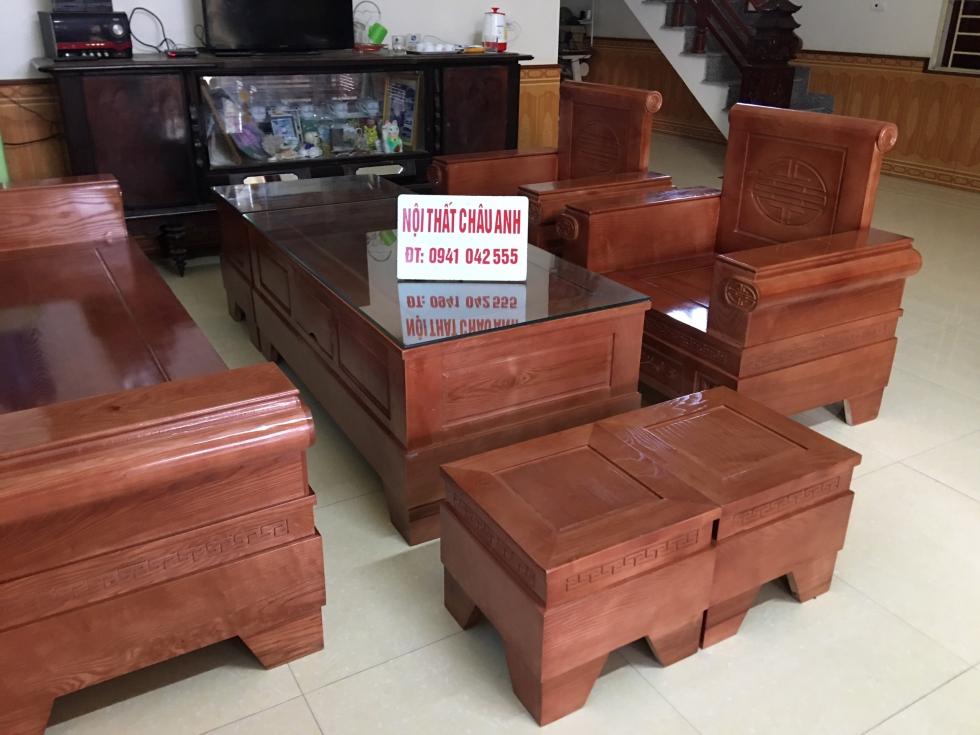 sofa gỗ đối